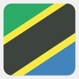 Tanzanian flag square sticker