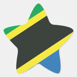 Tanzanian flag star sticker
