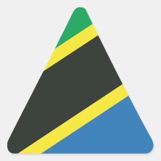 Tanzanian flag triangle sticker