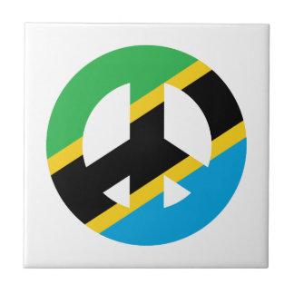 Tanzanian Peace Symbol Tile