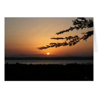 Tanzanian Sunset Card