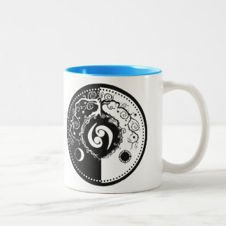 Tao Inspired Tree of Life Design for Cancerian's Two-Tone Coffee Mug