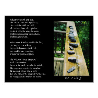 Tao Te Ching #39 Poster