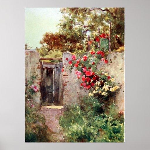 Taormina Italy Flowers 1918 Huge Canvas Print Gicl
