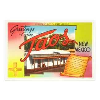 Taos New Mexico NM Old Vintage Travel Souvenir Photo