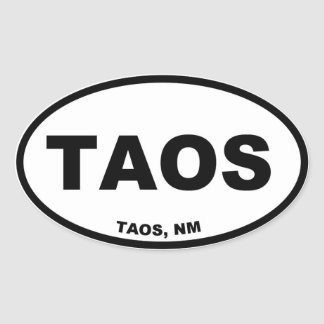Taos Oval Sticker