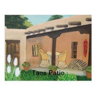 Taos Patio ~ Landscape Postcard