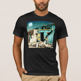 TAOS PUEBLO  ALTERED PHOTO T-SHIRT