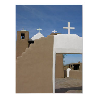 Taos Pueblo Church Poster
