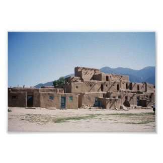 Taos Pueblo in New Mexico Poster