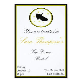 Tap Dance Recital Invitation