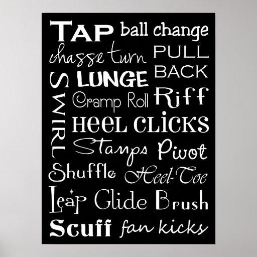 Tap Dance Subway Art Poster