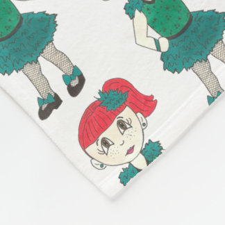 Tap Dance Teacher Redhead Girl Dancer Tapdancing Fleece Blanket