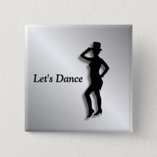 Tap Dancer 15 Cm Square Badge