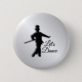 Tap Dancer Let's Dance 6 Cm Round Badge