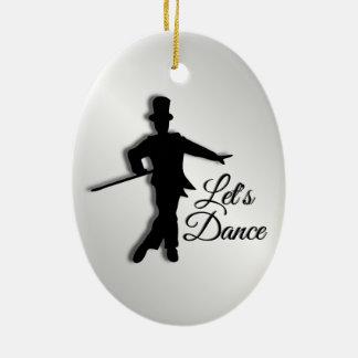 Tap Dancer Let's Dance Ceramic Ornament