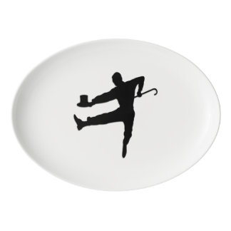 Tap Dancer Porcelain Serving Platter