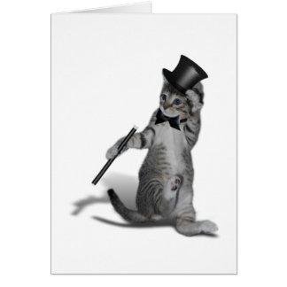 Tap Dancing Cat Greeting Card