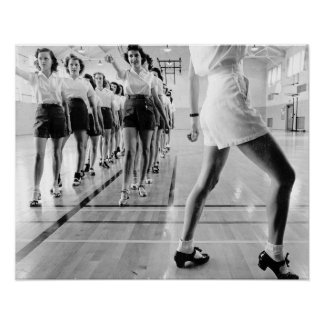 Tap Dancing Class, 1942. Vintage Photo Poster