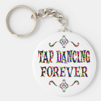 Tap Dancing Forever Basic Round Button Key Ring