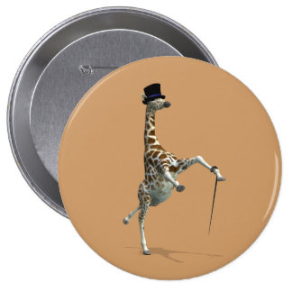 Tap Dancing Giraffe 10 Cm Round Badge