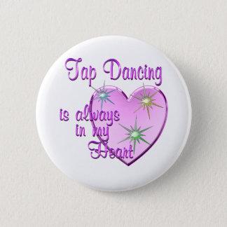 Tap Dancing Heart 6 Cm Round Badge