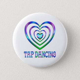 Tap Dancing Hearts 6 Cm Round Badge