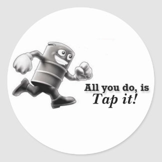 Tap it! round sticker