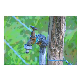 TAP ON A FENCE POST IN RURAL AUSTRALIA ART PRINT PHOTO PRINT