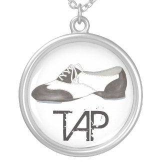 Tap Shoe Tapper Dance Teacher Dancer Tapdance Gift Silver Plated Necklace