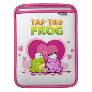 Tap the Frog - Pink Sleeve iPad Sleeves