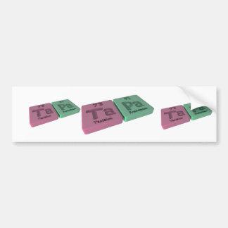 Tapa as Ta Tantalum and Pa Protactinium Bumper Sticker