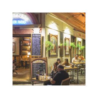 Tapas bar and restaurant canvas print