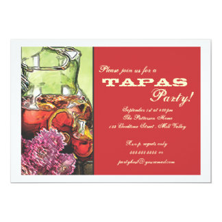 Tapas Party Invitation