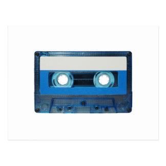 Tape cassette transparent background postcard