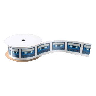 Tape cassette transparent background satin ribbon