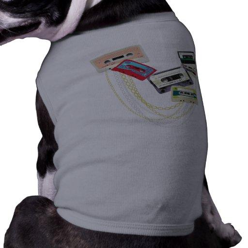tape decks with bling dog tee shirt