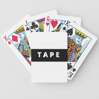 Tape logo bicycle playing cards