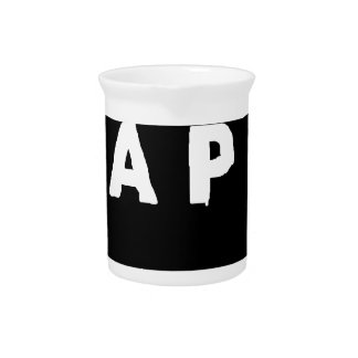 Tape logo pitcher