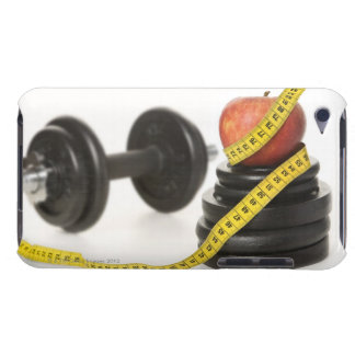 Tape measure, apple, dumbbell and weights barely there iPod case