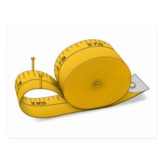 Tape Measure Snail Postcard