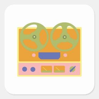 Tape Player Square Sticker