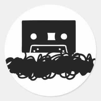 tape spaghetti icon classic round sticker