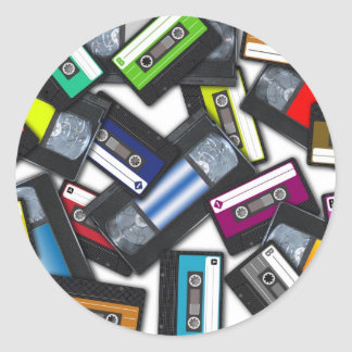 Tapes Classic Round Sticker