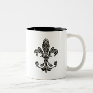 Tapestry Fleur de lis 2 Coffee Mugs