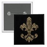 Tapestry Fleur de lis 4 Badges