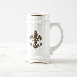 Tapestry Fleur de lis 4 Mugs