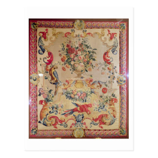 Tapestry in early Rococo style with strapwork and Postcard