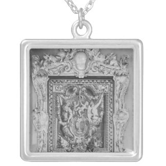 Tapestry of coat of arms of French Royal Family Pendant