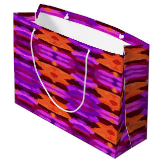 Tapestry of purple and orange gift bag